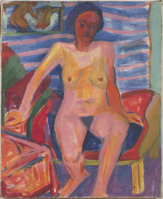 , 'Recto: Sitzender Frauenakt - Verso: Bildnis Dr. Saxer,' , Galerie Knoell, Basel