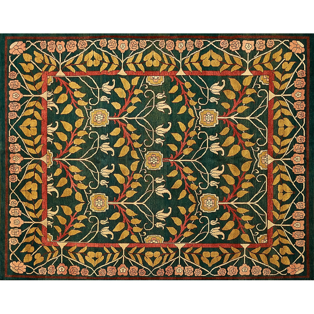 'Style Of William Morris, Contemporary Hand-Woven Wool Rug', Rago/Wright