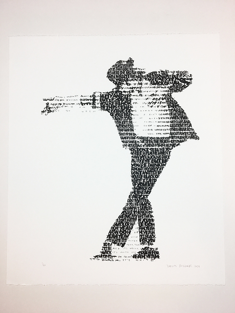 David Hollier, 'Michael Jackson (text: 'Black or White' lyrics)', 2019, New Apostle Gallery