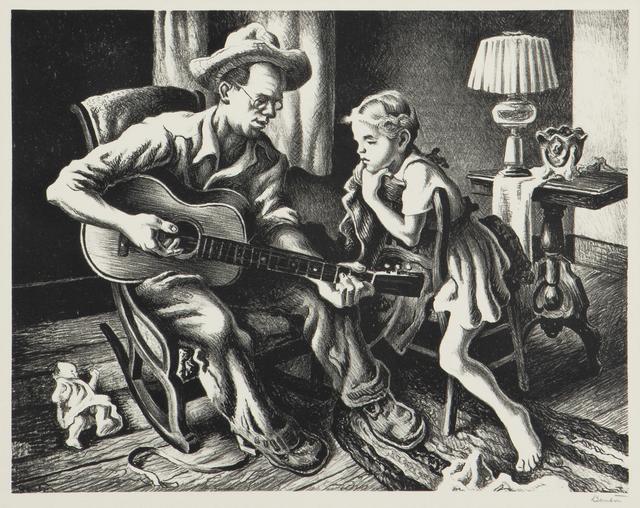 Thomas Hart Benton, 'The Music Lesson', 1943, John Moran Auctioneers