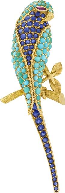 , 'Perruche clip, Heritage Collection,' 1962, Van Cleef & Arpels
