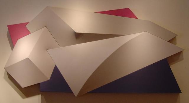 Charles Hinman, 'Sprinter', 1980, Painting, Acrylic on shaped, segmented canvas, Vertu Fine Art