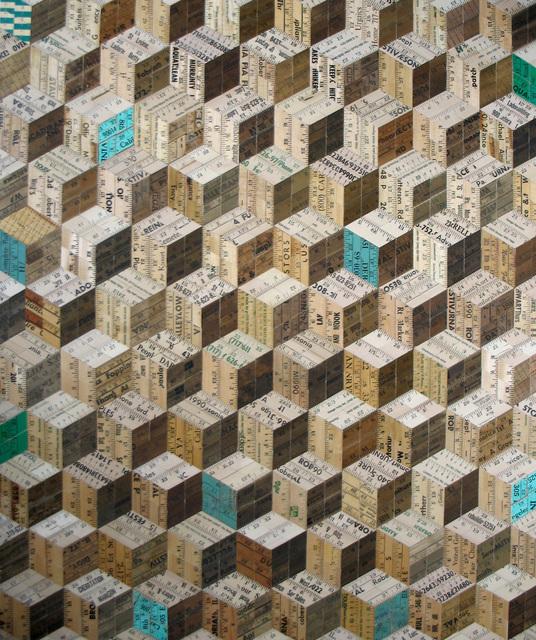 , 'Green Tumbling Blocks,' , Cube Gallery