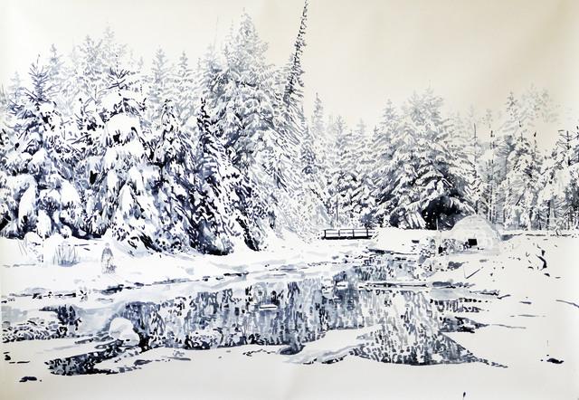 , 'Der Fluss im Winter (The River in Winter),' 2017, Victor Lope Arte Contemporaneo