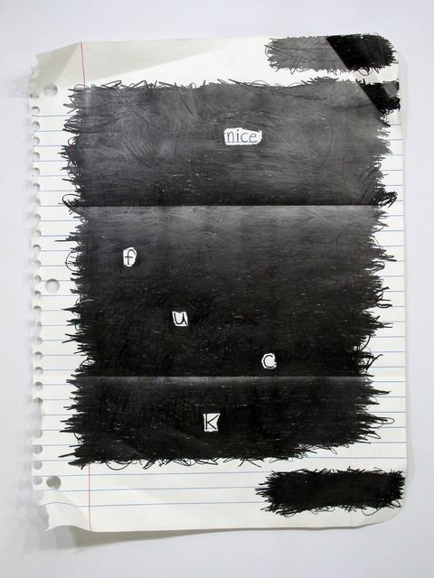 , 'Nice F.U.C.K,' 2015, g.gallery