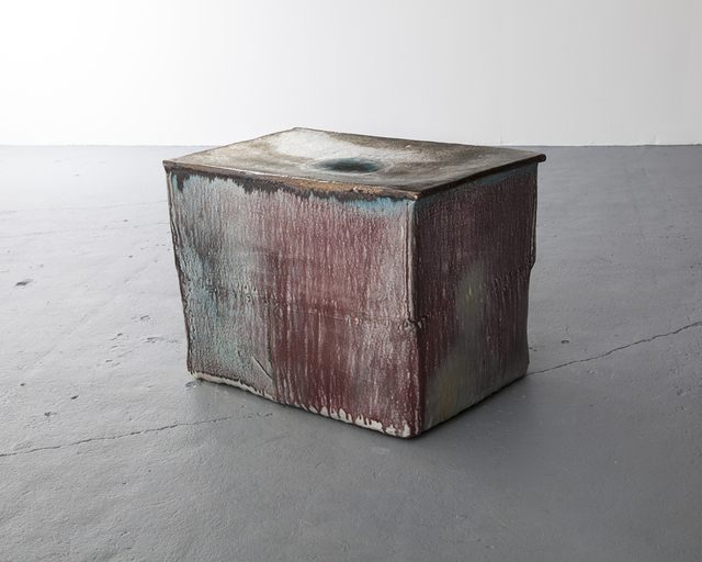 , 'Ceramic stool in purple glaze with metal effect-top ,' 2010, Jeff Lincoln Art+Design