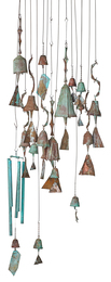 Collection of hanging bells (sixteen as shown)