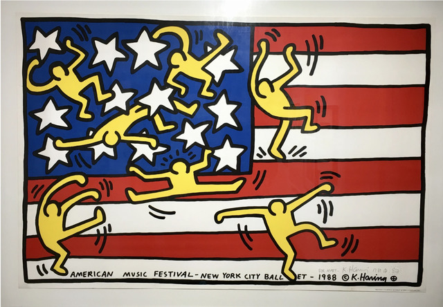 Keith Haring, 'American Music Festival (NYC Ballet)', 1989, Rhodes