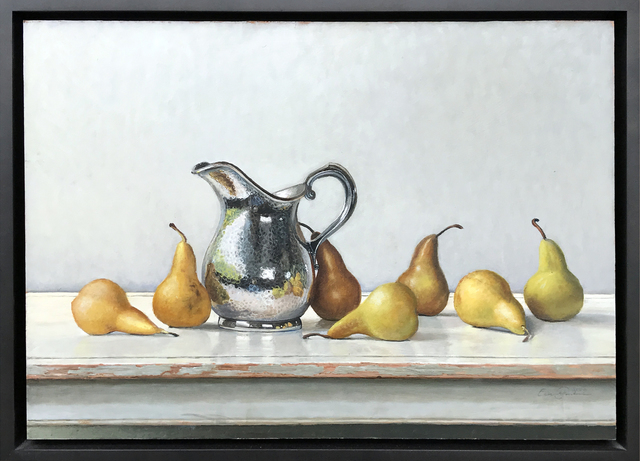 , 'Hammered Pitcher with Pears,' 2009, Eckert Fine Art