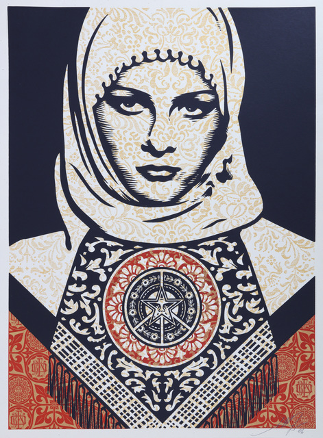 Shepard Fairey, 'Arab Woman', 2006, Print, Screenprint in colours on paper, Chiswick Auctions