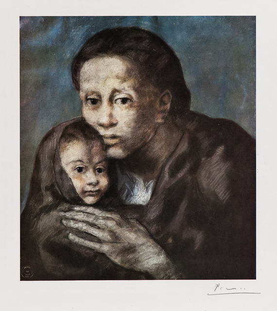 After Pablo Picasso, 'Mother and Child with Shawl', 1903, Skinner