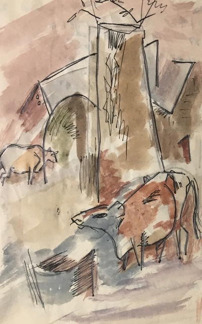 Karl Knaths, 'Cows', Early 20th century, Bakker Gallery