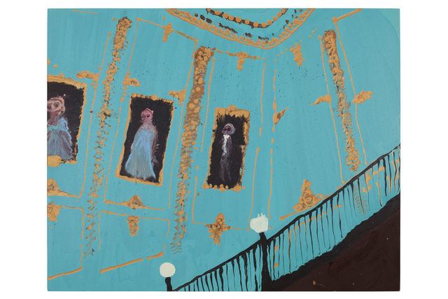 , 'Up the blue stairs,' 2017, Almine Rech