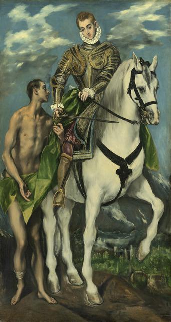 El Greco, 'Saint Martin and the Beggar', 1597/1599, National Gallery of Art, Washington, D.C.