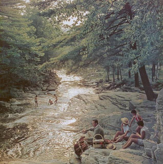 Slim Aarons, 'Campbell Falls Picnic ', 1959, IFAC Arts
