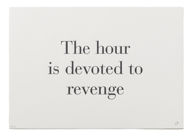 ", '""The Hour is Devoted to Revenge"" from ""What is the Shape of this Problem?"",' 1999, Burning in Water"