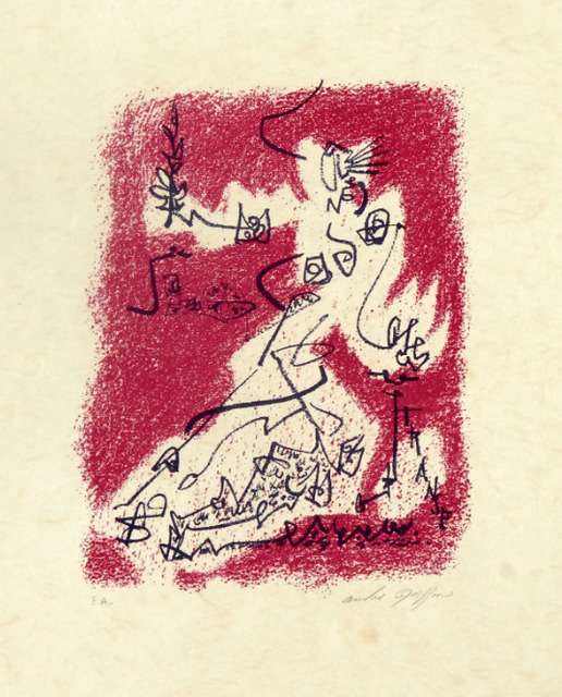 , 'Le départ from the book 'Souvenirs d'artistes' (Signed),' 1954, Zuleika Gallery
