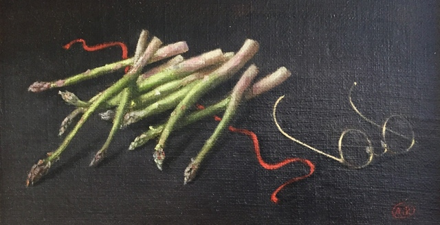 , 'Asparagus with Glasses,' ca. 1960, Bakker Gallery