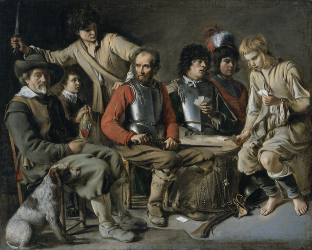 , 'Soldiers Playing Cards (A Quarrel),' ca. 1640, Legion of Honor