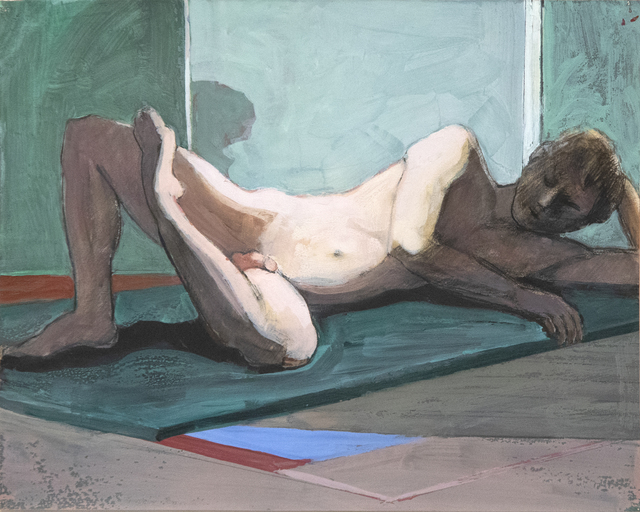 William Theophilus Brown, 'Untitled (Reclining Nude on Green Mat)', 1995, Heather James Fine Art