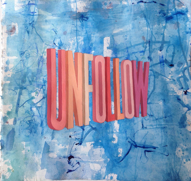 , 'Unfollow (Blue/Red),' 2015, Joshua Liner Gallery