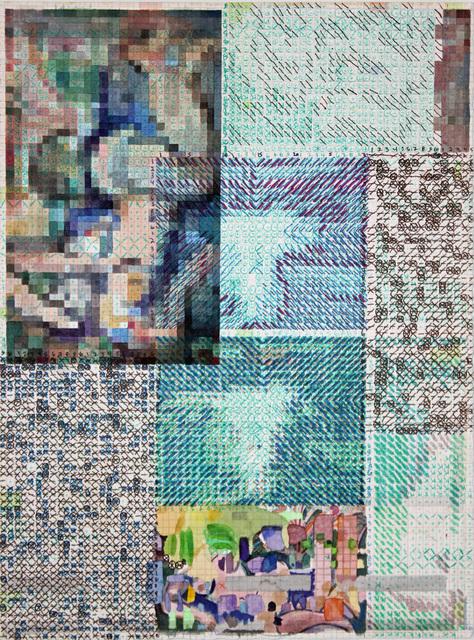 , 'bluenudeturnedandsquared,' 2017, Federico Luger (FL GALLERY)