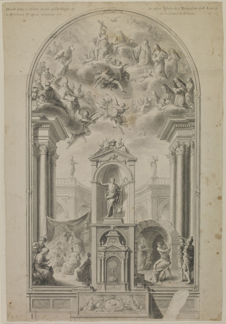 , 'Study for an altar wall with scenes from life of St John the Baptist,' 1780, British Museum