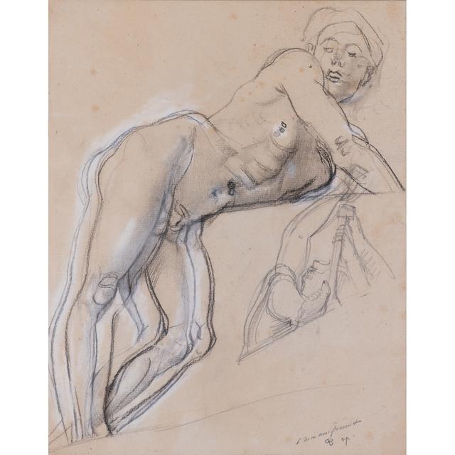 Antoine-Louis Barye, 'Reclining nude', PIASA