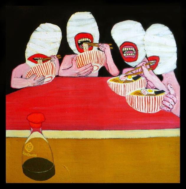 , 'Shy Nudists at Ramen bar,' 2010, 11 [HellHeaven]