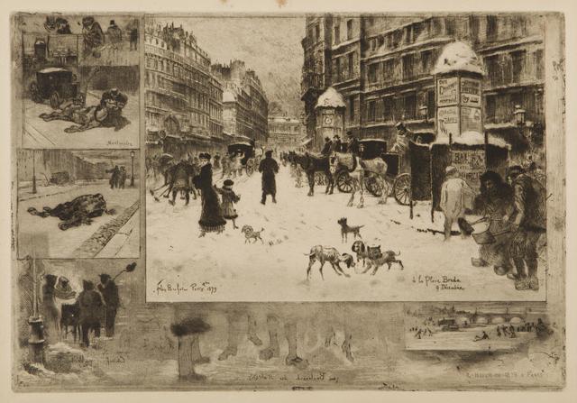 , 'L'Hiver a Paris, or La Neige a Paris,' 1879, Childs Gallery
