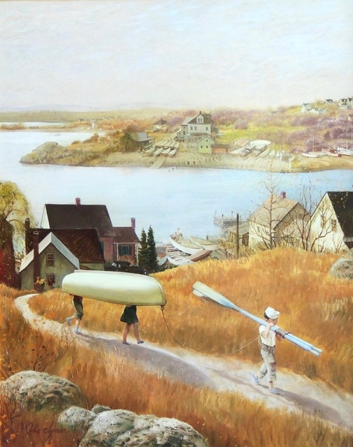John Clymer, 'Children with Rowboat, Saturday Evening Post Cover', 1953, The Illustrated Gallery