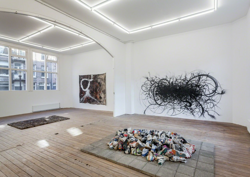 Installation view of Abstract Vandalism with work by Nug and Niels Shoe Meulman. Photo Peter Tijhuis.
