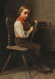 Schoolboy with a Slate