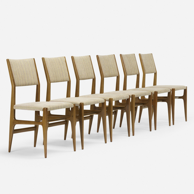 Gio Ponti, 'Dining chairs model 116, set of six', c. 1950, Wright