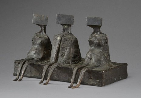 , 'Three Sitting figures,' 1976, Piano Nobile