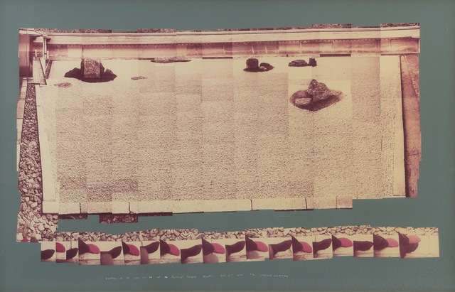 David Hockney, 'Walking in the Zen Garden at the Ryoanji Temple #4', 1983, Hindman