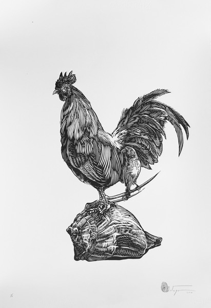, 'ROOSTER & SHELL,' , saltfineart