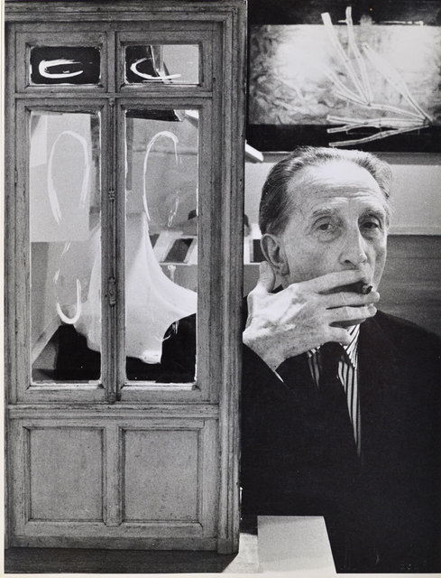 , 'Duchamp smoking Cigar beside Little Door, Duchamp Retrospective, Pasadena Art Museum,' 1963, Robert Berman Gallery