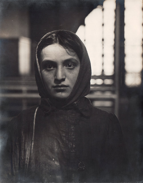 , 'Young Russian Jewess Arriving at Ellis Island,' Neg. date: 1905 / Print date: Exact date unknown, Alan Klotz Gallery