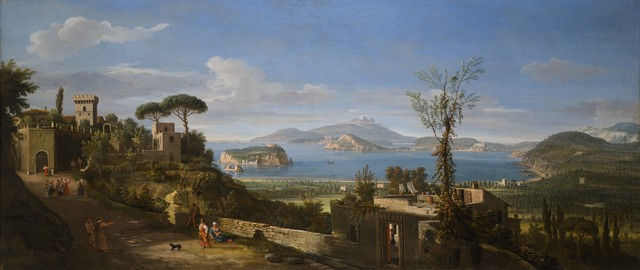 , 'A View of the Bay of Pozzuoli, near Naples, taken from the east, looking towards the port of Baia, with the Islands of Nisida Procida and Ischia,' 1700, Robilant + Voena