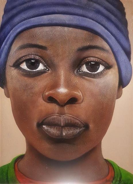 George Velaphi Mzimba, 'Tshegofatso', ca. 2019, Painting, Acrylic on canvas, Tanya Baxter Contemporary