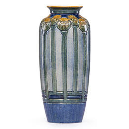 Fine early vase with poppy pods, New Orleans, LA