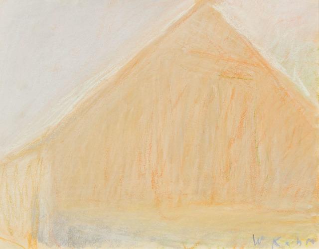 Wolf Kahn, 'BARN HEAD ON (STUDY)', 1972, Jerald Melberg Gallery
