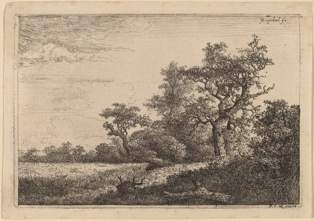 Jacob van Ruisdael, 'Grain Field at the Edge of a Wood (Corn Field)', National Gallery of Art, Washington, D.C.