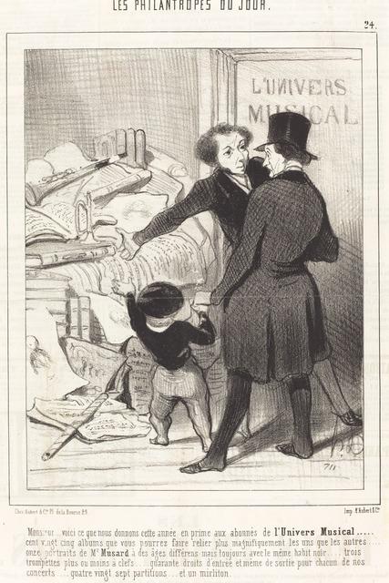 Honoré Daumier, 'Monsieur... voici ce que nous donnons... en prime...', 1845, National Gallery of Art, Washington, D.C.