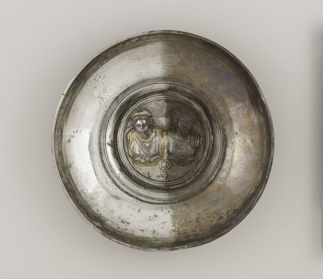 , 'Offering Bowl with a Medallion of Mercury and Maia or Rosmerta,' 150-225, Legion of Honor