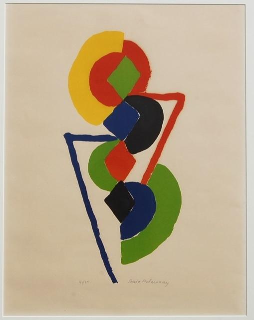 Sonia Delaunay, 'Abstract Geometric pencil signed ', 1970, Renata Fine Arts