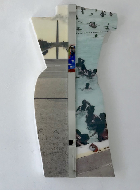 Martin Alexander Spratlen Etem, 'From prejudice rules, to King's jewels, our nation's reflecting pool, turned profound swimming pools, to good kids m.a.a.d cities', 2019, Sculpture, EPS foam, resin, mirror, Superposition