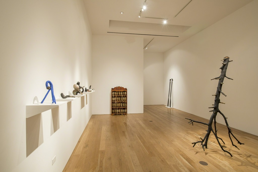 """Installation view of Blue McRight, """"Drink Me,"""" 2015."""