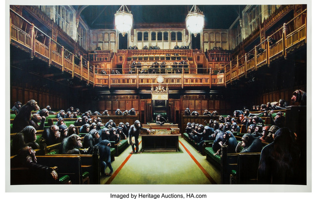 Banksy, 'Monkey Parliament, poster', 2009, Heritage Auctions